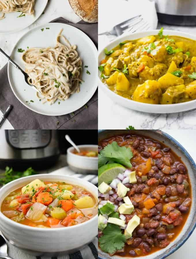 A Collage of Vegan Instant Pot Recipes