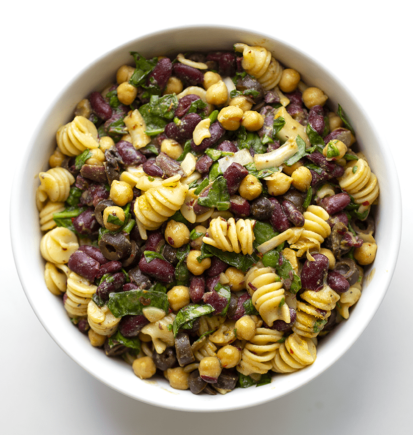 Two Bean Pasta Salad