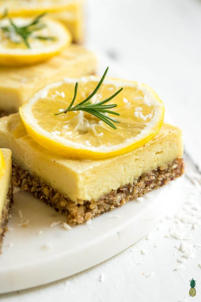 Creamy Lemon Rosemary Bars