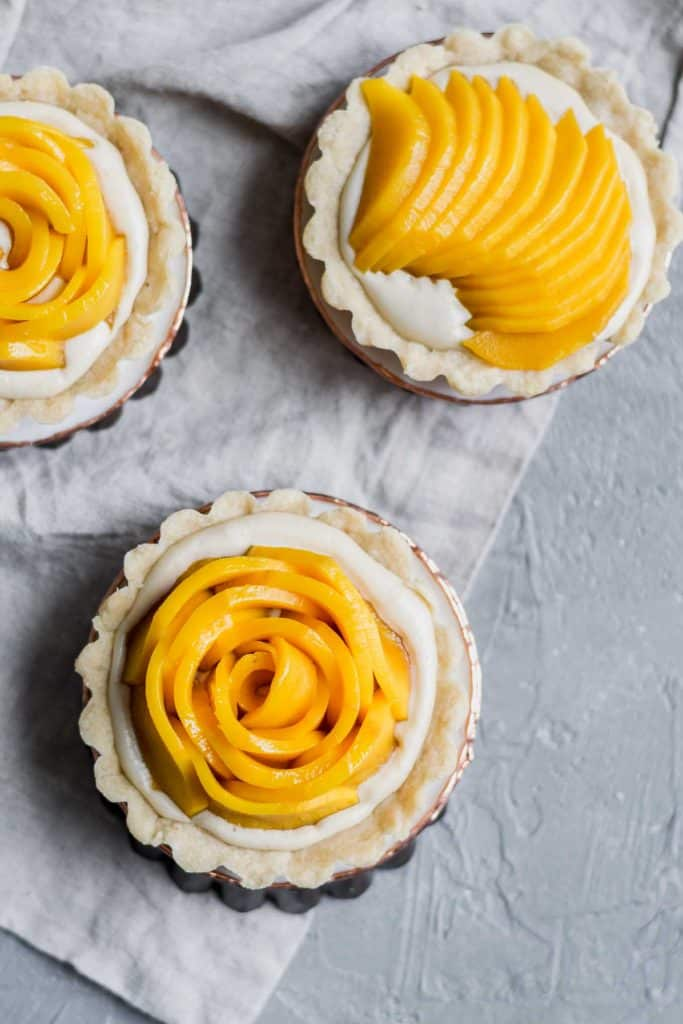 Vegan Mango Tarts with Vanilla Pastry Cream