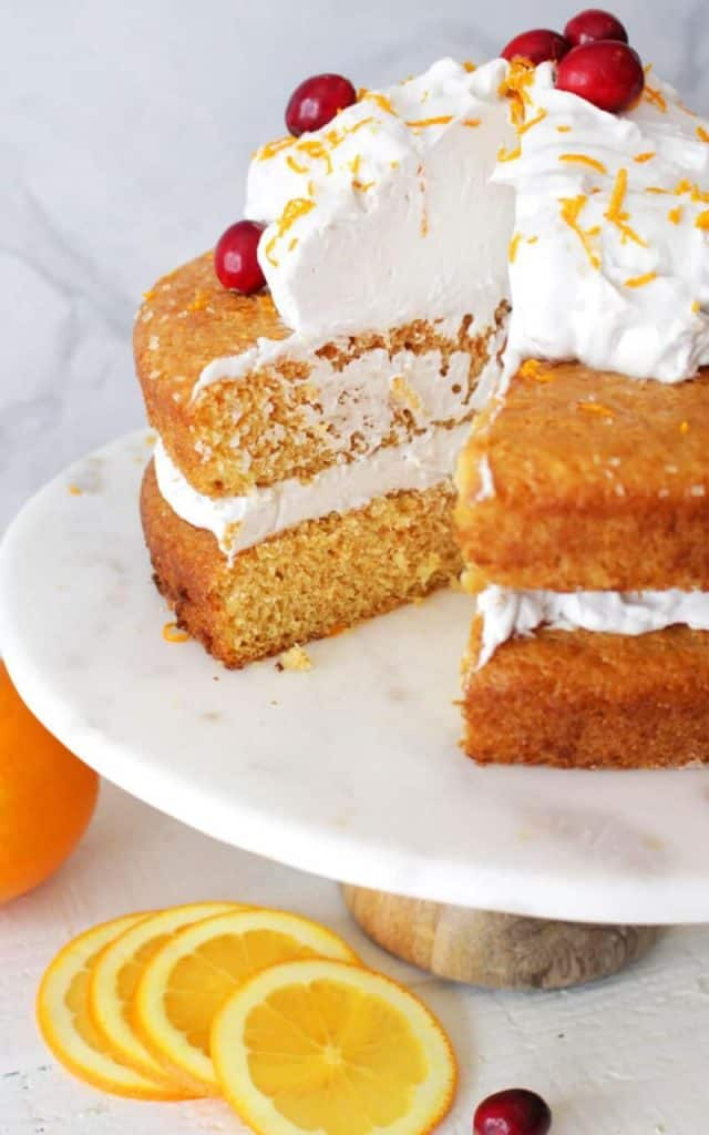 Vegan Orange Cake with Vanilla Coconut Whip Frosting
