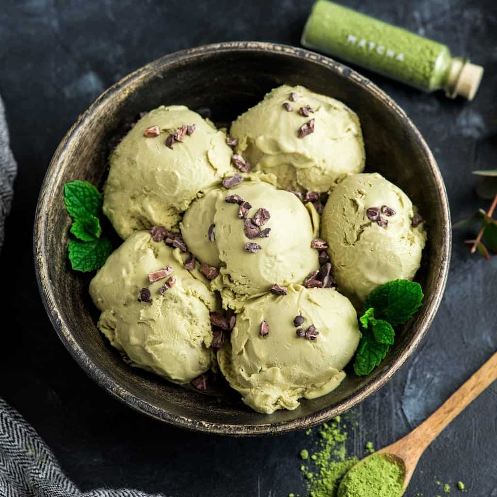 Dairy-Free Matcha Ice Cream