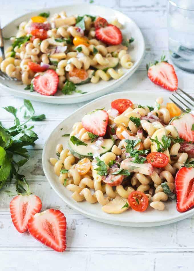 Creamy Balsamic Summer Pasta Salad