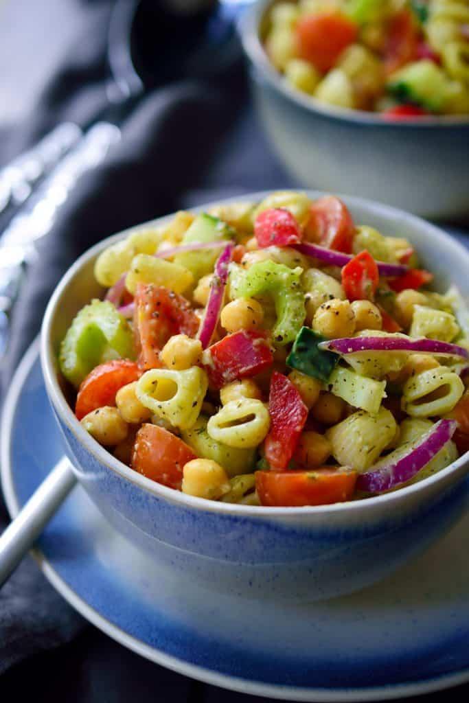 Vegan Avocado Pasta Salad