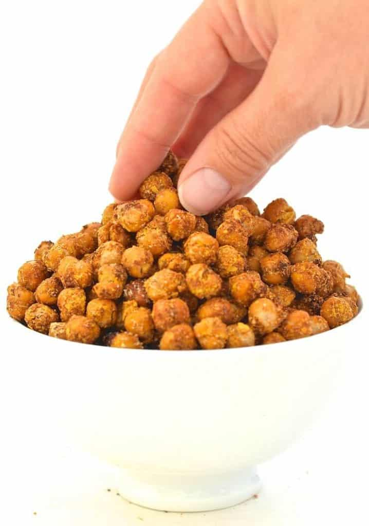 Cheese and Onion Roasted Chickpeas