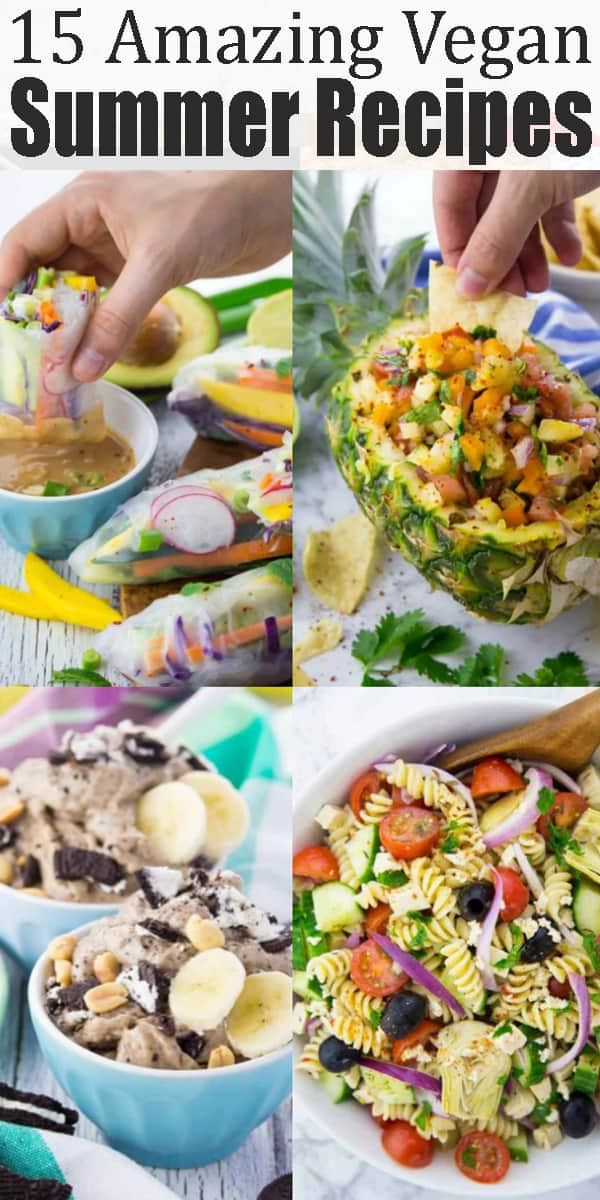 If you're looking for vegan summer recipes, this is the perfect post for you. It includes vegan pasta salads, vegan grilling recipes, and some vegan ice cream recipes! Find more vegan recipes at veganheaven.org! #vegan #veganrecipes #summerrecipes