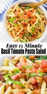Basil Tomato Pasta Salad