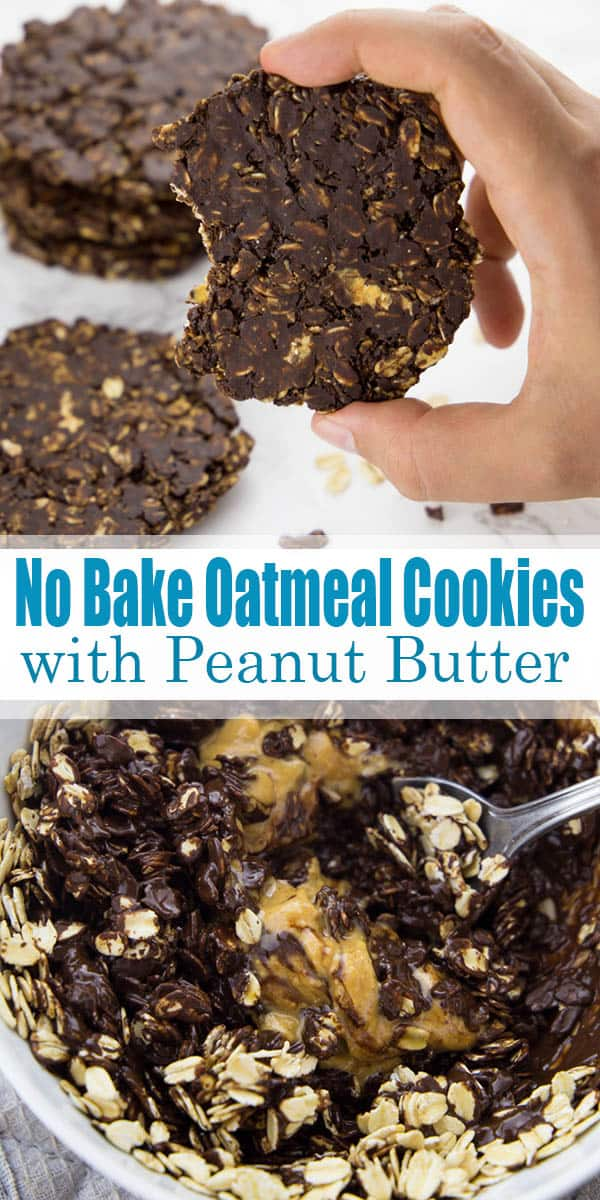 These chocolate peanut butter no bake oatmeal cookies are perfect when you feel like having a little treat and don't have enough time for real baking! They're are one of my favorite vegan cookies! Find more vegan recipes at veganheaven.org