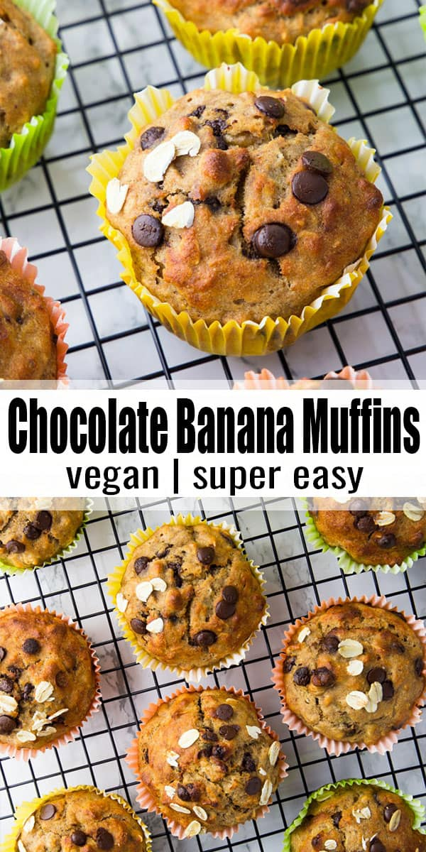 I can never say no to these vegan banana muffins! They're incredibly moist, delicious, and super easy to make! Besides, they're much healthier than most muffins and make an awesome afternoon snack or even breakfast! #vegan #veganrecipes #muffins