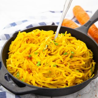 Carrot Pasta – Vegan and Super Creamy!