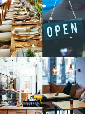 a collage of vegan restaurants