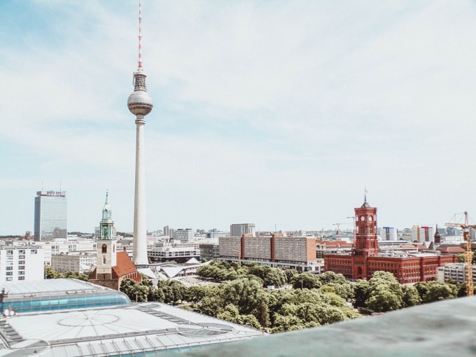 Skyline of Berlin with TV tower