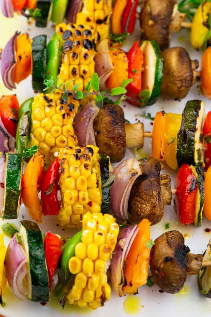 Vegetable Kabobs Vegan Heaven