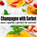 Champagne with Sorbet