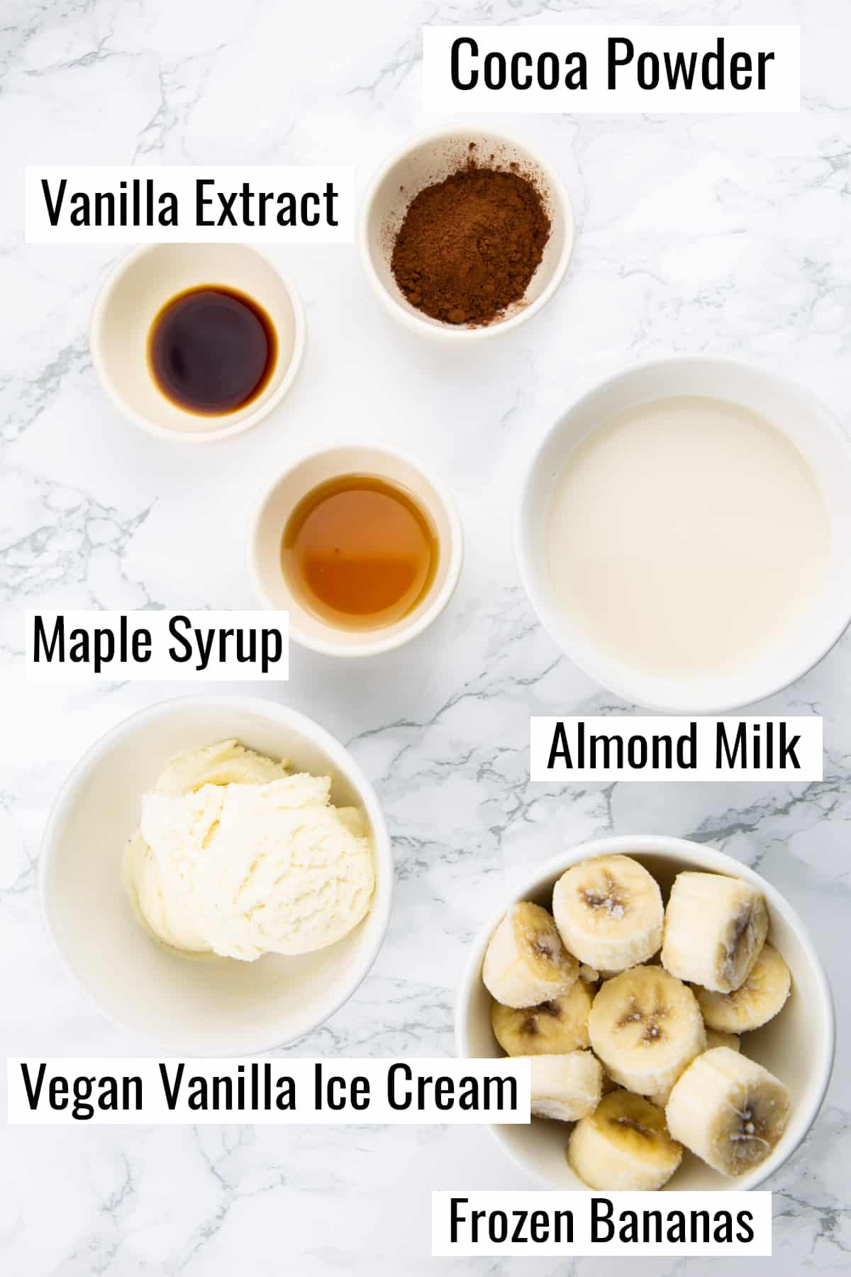 ingredients that go into this recipe on a marble countertop
