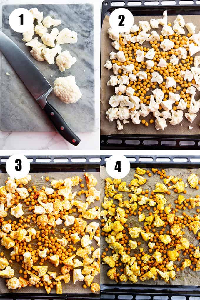 a collage of four photos that show how to make this recipe