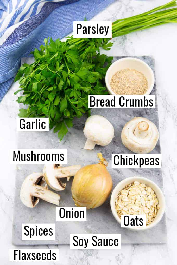 the ingredients for this recipe on a marble countertop