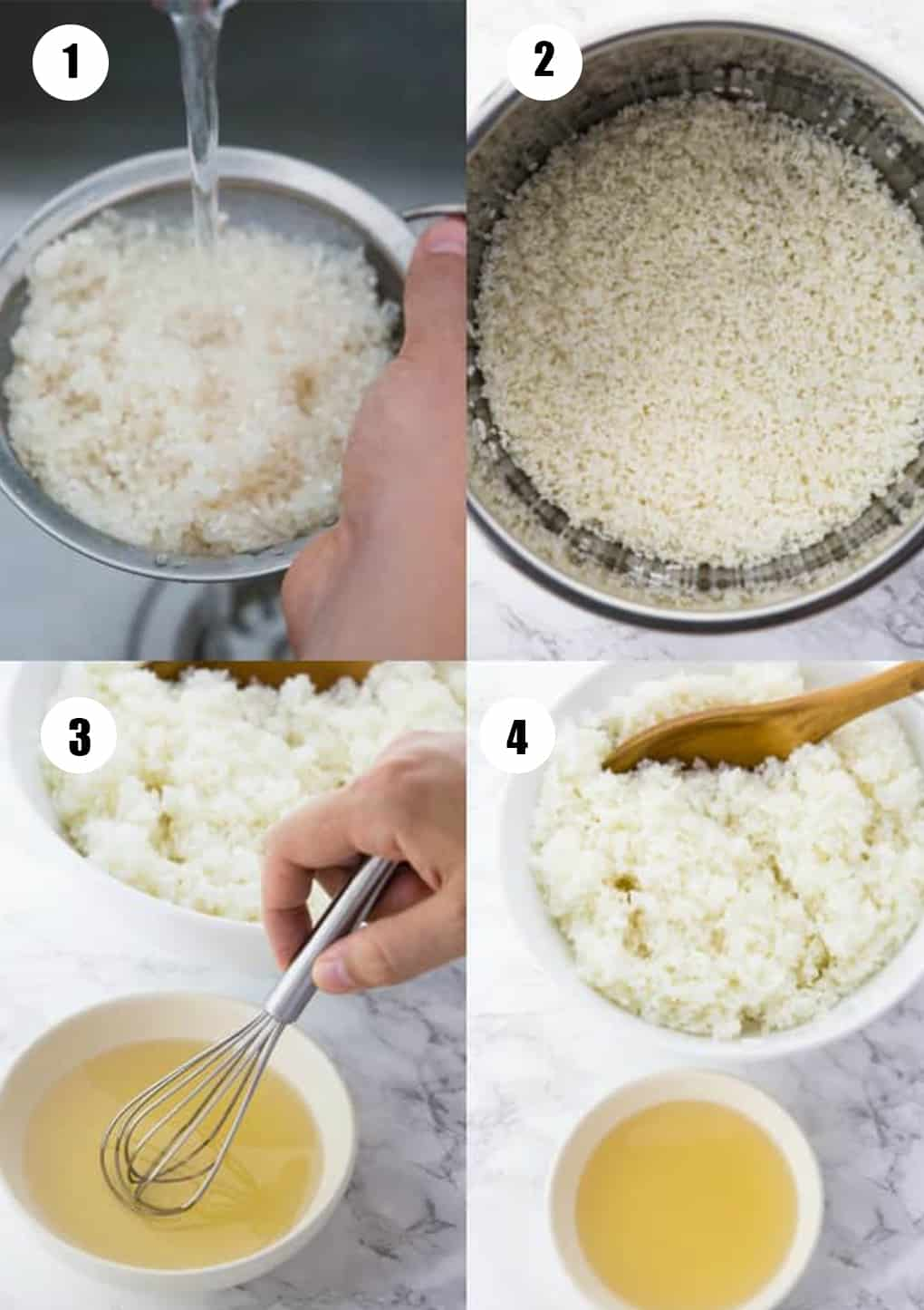 a collage of four recipes that show how to make this recipe