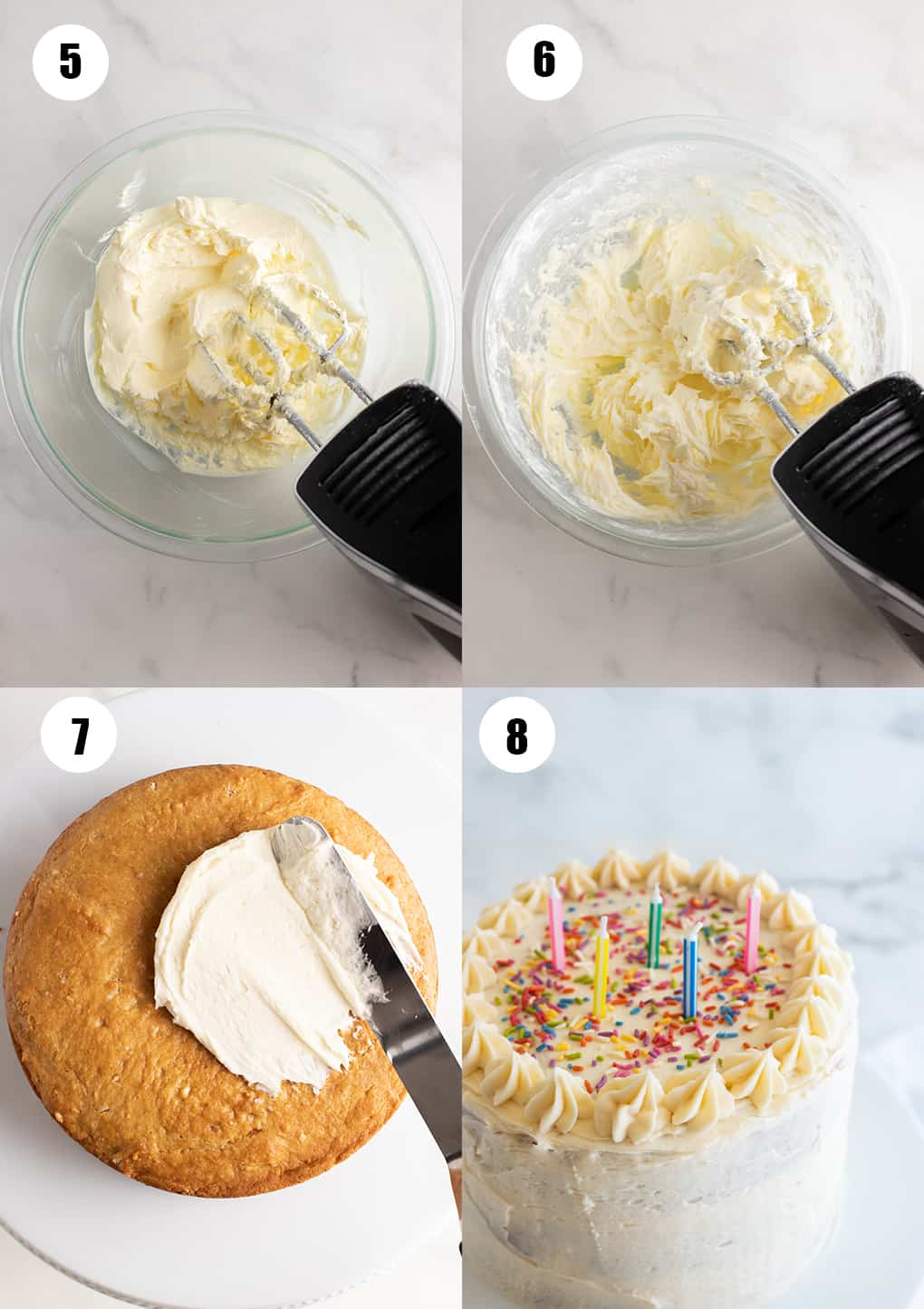 a collage of four photos showing how to make this recipe